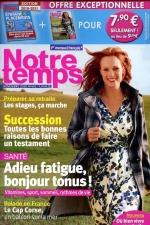 """Article """"A chaque moment son thé"""" pour le magazine Notre Temps"""