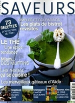 """Dossier et """"sommellerie"""" du thé pour Saveurs"""