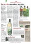 Article sur la verveine odorante dans L'Auvergnat de Paris - fév 2013